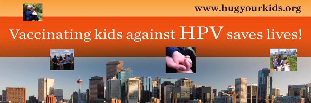 banner photo, vaccinating kids against HPV saves lives